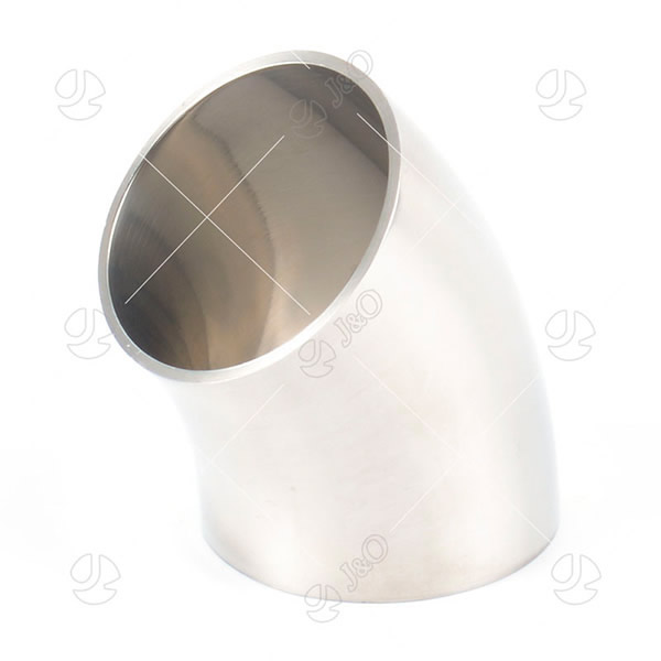 Sanitary Stainless Steel  45 Degree  Welded Short Elbow