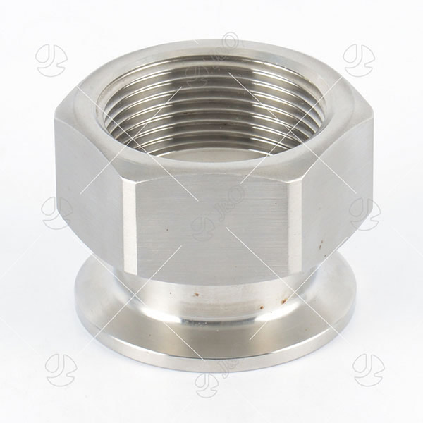 Sanitary Hexagon Female-Clamped Adapter