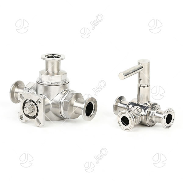Santiary Stainless Steel Three Way Manual Ball Valve