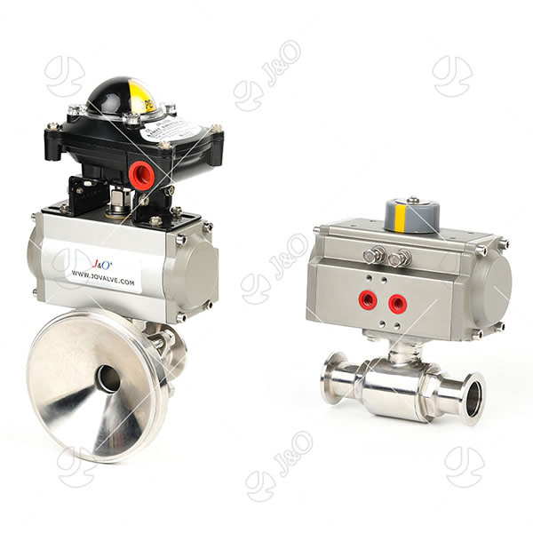 Sanitary Stainless Steel  Pneumatic Electric Encapsulated Seal  Ball Valve