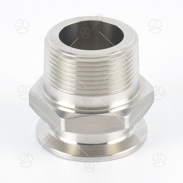 Stainless Steel Hexagon Male-Clamped Adapter