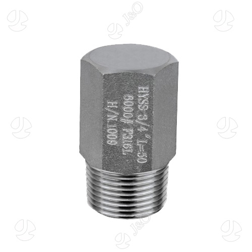 Stainless Steel threaded bull plug